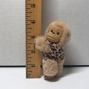 """Monkey Gripper Grabber Clip On Plush 4"""""""